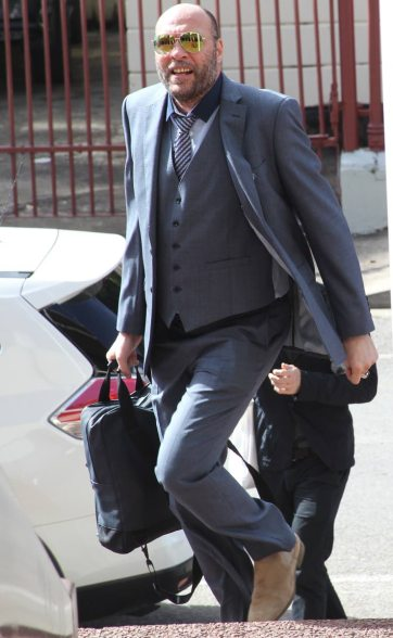 Jason Jones arrives at the Hall of Justice in Port of Spain, Trinidad, for the Jan. 30 hearing on his lawsuit seeking to overturn the country's buggery law. (Rattan Jadoo photo courtesy of Newsday)