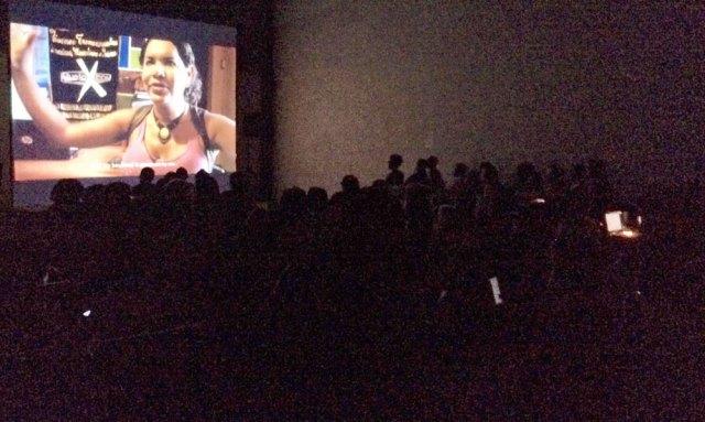 Secret screening of QKIFF. (Photo courtesy of Kamoga Hassan)
