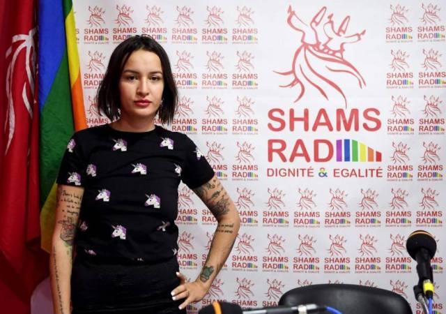 Shams Rad activist promotes the new online LGBT radio service. (Photo courtesy of Shams Rad via Facebook)