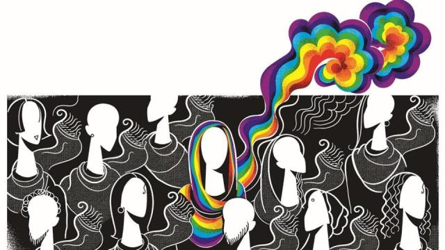 """Illustration by Malay Karmakar for the Hindustan Times series """"Let's Talk About 377"""""""