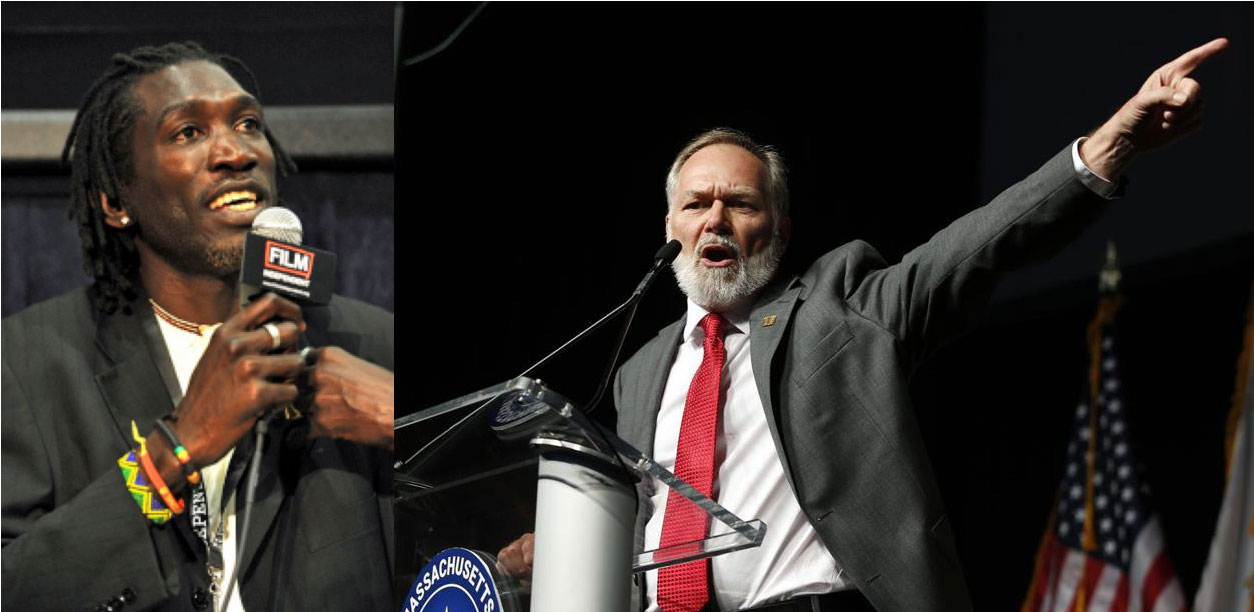 Ugandan exile John Wambere (left) has spoken out against Pastor Scott Lively (right), the gubernatorial candidate who inspired Uganda's Anti-Homosexuality Act.