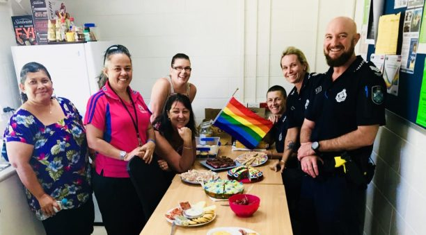 Thursday Island police and staff supports IDAHOT