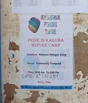 Poster advertises Kakuma Pride 2018. (Photo courtesy of Mbazira Moses)