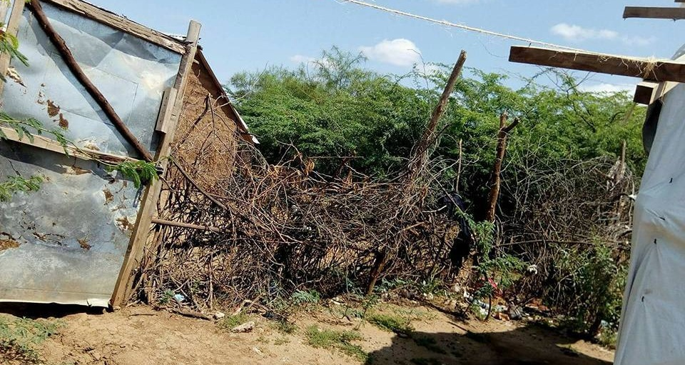 Thorn bushes are needed to keep homophobic intruders from disrupting Kakuma Camp Pride. (Photo courtesy of Mbazira Moses)