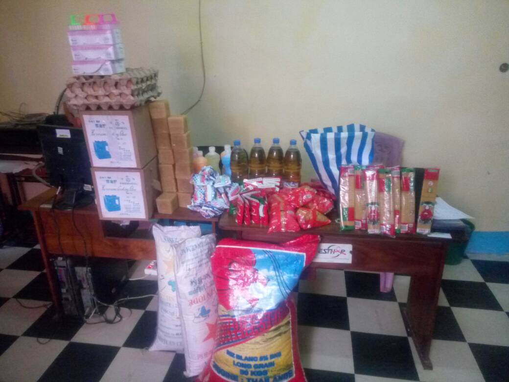 Food prepared for delivery on Aug. 7 to gay prisoners at Yaoundé Central Prison in Cameroon. (Photo courtesy of Steeves WInner)