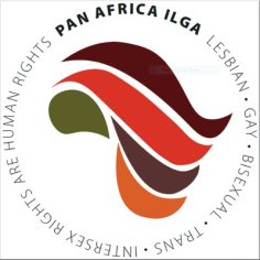 Logo of Pan-Africa ILGA, the African affiliate of the International Lesbian, Gay, Bisexual, Trans and Intersex Association.