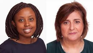 Muthoki Mumo of Kenya (left) and Angela Quintal of South Africa (right) were expelled from Tanzania because of their investigation of the government's harassment of journalists.
