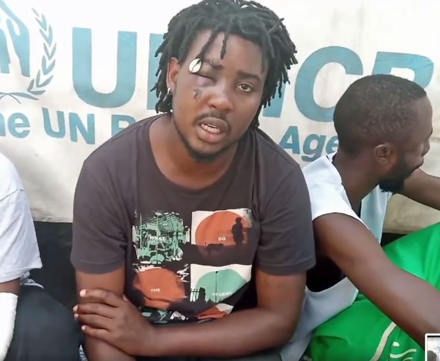 """LGBT+ refugee leader Mbazira Moses: """"I'm not leaving Kakuma when my people ... are still in the camp."""" (Photo courtesy of YouTube)"""