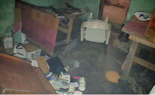 The ransacked office of Acodevo. (Photo courtesy of Acodevo)