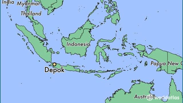 The location of Depok in Indonesia (Map courtesy of WorldAtlas.com)