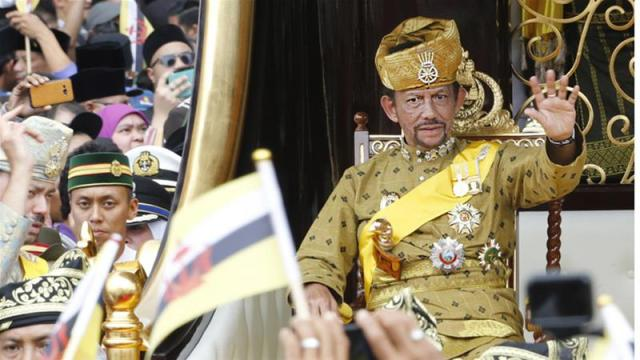 Hassanal Bolkiah, the sultan of Brunei. (Photo vcourtesy of Hassanal Bolkiah, the sultan of Brunei. (Photo courtesy of Al Jezeera)