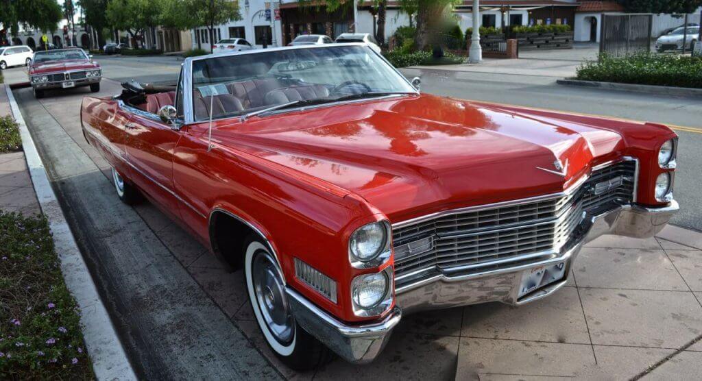 Classic Car Red Cadillac Hollywood California 777 Exotic