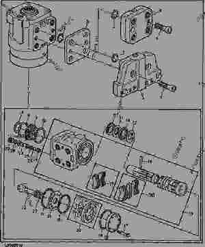 HYDROSTATIC STEERING UNIT [10]  TRACTOR John Deere 2755
