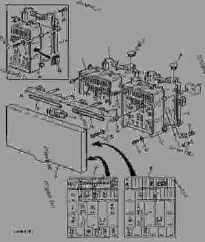 FUSE BOX  SYMBOLS (4POST ROPS)  TRACTOR John Deere 6400