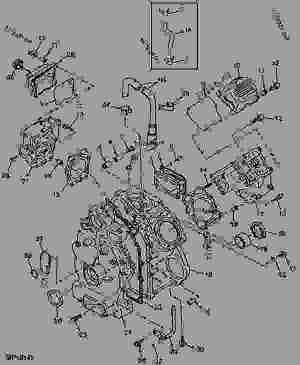 CYLINDER HEAD AND CRANKCASE (6X4)  UTILITY VEHICLE John