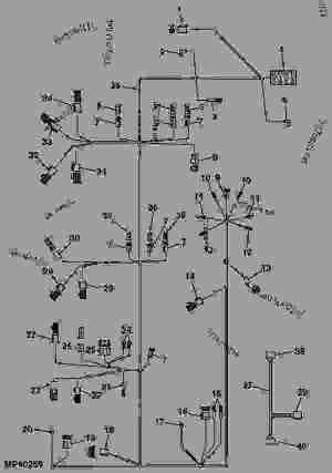 WIRING HARNESS  TRACTOR, COMPACT UTILITY John Deere 2305  TRACTOR, COMPACT UTILITY  2305