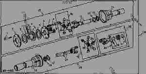 PTO Clutch and Shaft (660 Tiller)  DIGGER, POSTHOLE John Deere 31C  DIGGER, POSTHOLE  Rear
