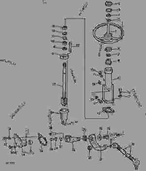 John Deere 2130 Steering Parts  Image Of Deer LedimageCo