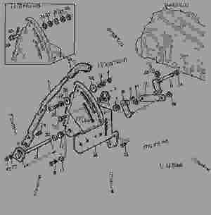 ROCKSHAFT CONTROL LEVER [35]  TRACTOR John Deere 2155