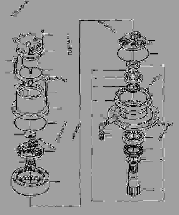 excavator hydraulic system diagram