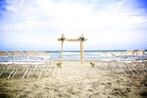 Bamboo wedding arch