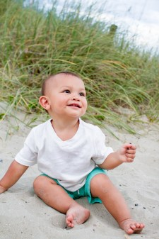 Baby pics on the beach