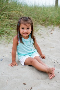 Baby girl pictures at the beach