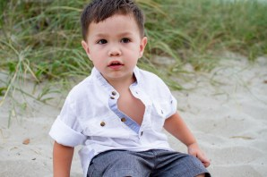 Baby pictures at the beach