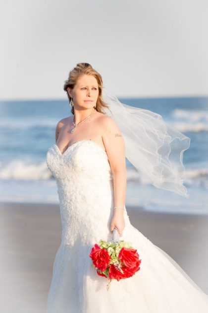 Beautiful bride portraits in OceanI sle Beach