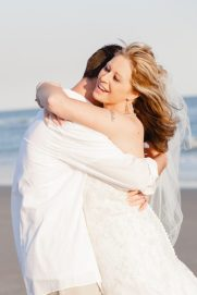 Beautiful pic of Chris & Mary after the wedding ceremony