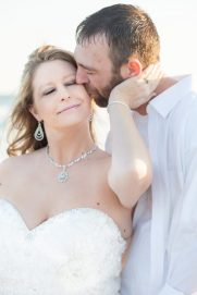 Warm embrace after the wedding portraits