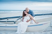Maternity family beach portraits