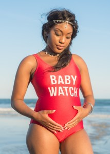 Babywatch maternity photo session