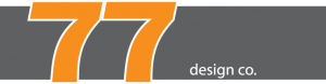 77 Design Co logo on gray background