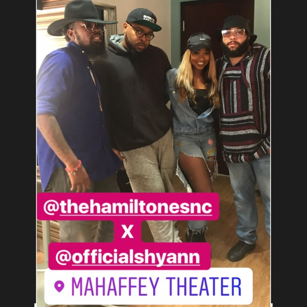 6c432410020 Shyann with The Hamiltones backstage after the Anthony Hamilton…