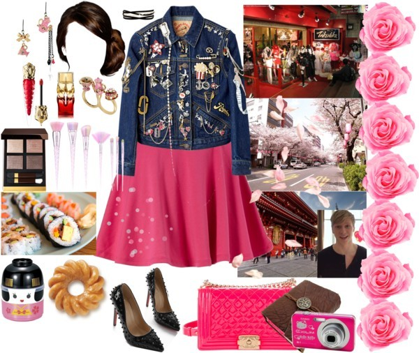 Trip to Japan by lucilxlu featuring a pink outfit