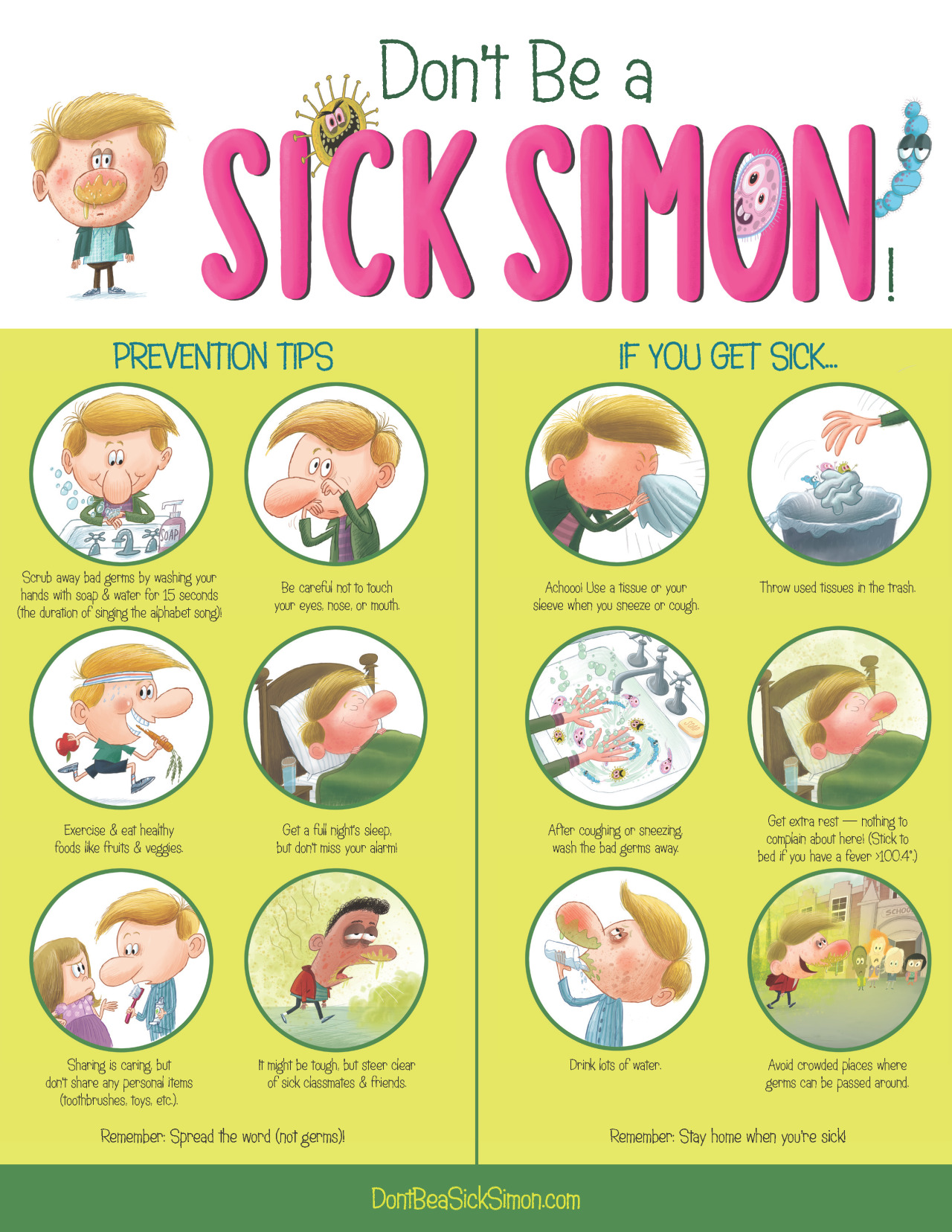 Are Germs Gross Or Great Sick Simon Learns How