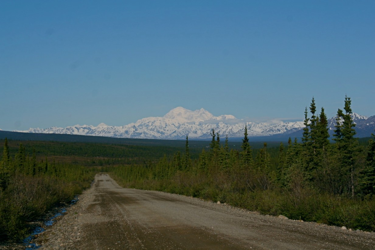 The view of Denali from the Denali Highway