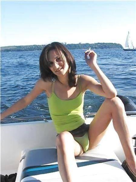 cute gurl on a boat….