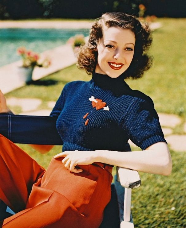 35 glamorous color photos of Loretta Young from between the