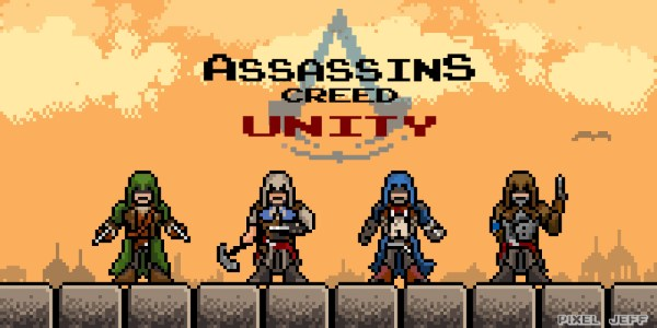 Pixel Jeff — Assassins Creed : Unity 8-bit version