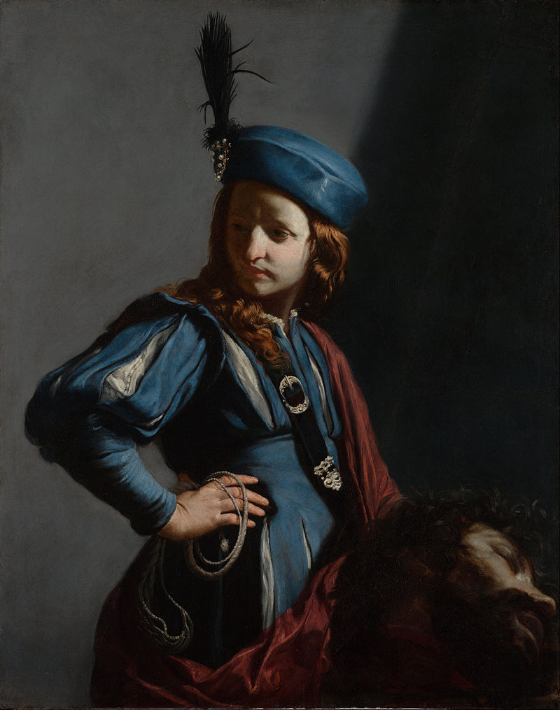 "saint-turpentine: "" David with the Head of Goliath (c. 1650), Guido Cagnacci """
