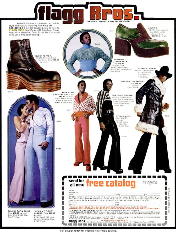 Flagg bros couture vintage platform shoes and super fly suits flagg bros couture vintage platform shoes and super fly suits adverts from the 1970s fandeluxe Image collections