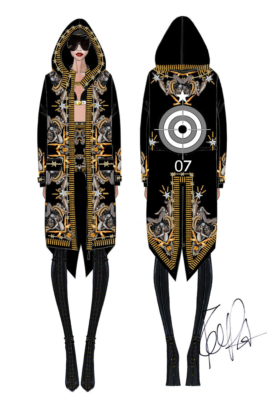 Givenchy by Riccardo Tisci Fashion Sketches       Fashionary Hand     GIVENCHY by Riccardo Tisci