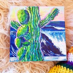Cactus dreaming 💚💙🌊#waves #cactuslove...........#art#artshow #perthcreatives#perthartist #waveart #artclass #artstudio_post#artisttowatch #artsy #paintings #whimsical #illustration #abstractart #creative #creativityfound   (at Perth, Western Australia)