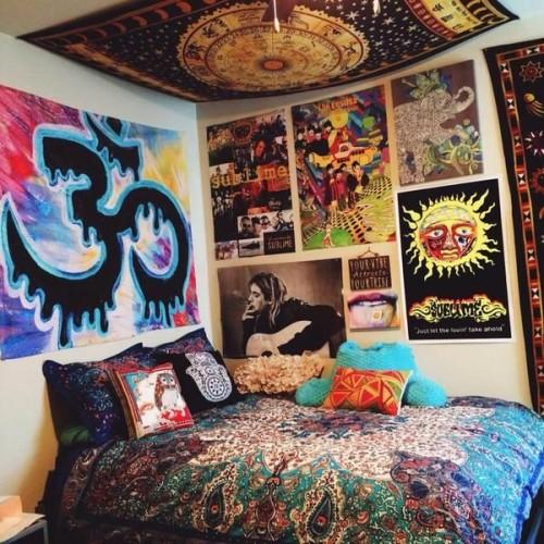 hippie bedrooms | Tumblr on Room Decor Indie id=20008