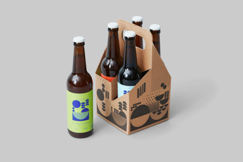 """tumblr_p2gajza2dS1r5vojso7_500 Packaging Design for Halo Brewery by way of Underline Studio""""Halo is an... Design"""