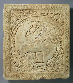 theancientwayoflife:~ Panel with a Griffin.Date: A.D. 1250–1300Geography: Made in Greece or the Balkans (possibly)Culture: ByzantineMedium: Marble