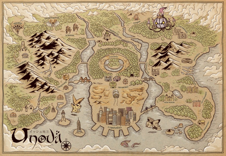 Adam Works Unova MapFinally  here s the Unova Map as a Middle Earth map continuing  with my Pok    mon
