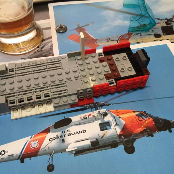 MH-60T Jayhawk on the design table tonight! #b… – Lego